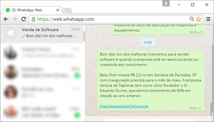 Oportunidade de venda de software